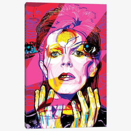David Bowie Canvas Print #SSD6} by Only Steph Creations Canvas Art