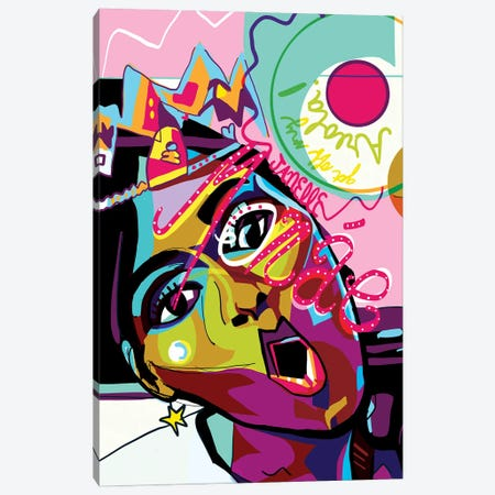 Janelle Monáe Canvas Print #SSD8} by Only Steph Creations Canvas Print