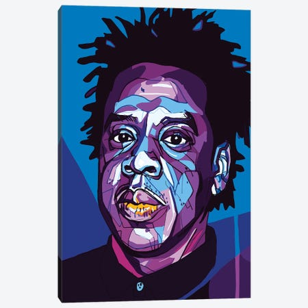 Jay-Z Canvas Print #SSD9} by Only Steph Creations Canvas Print