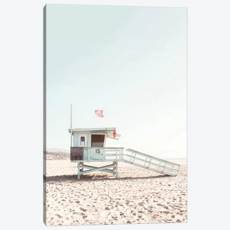 Lifeguard Hut Canvas Print #SSE107} by Sisi & Seb Canvas Art