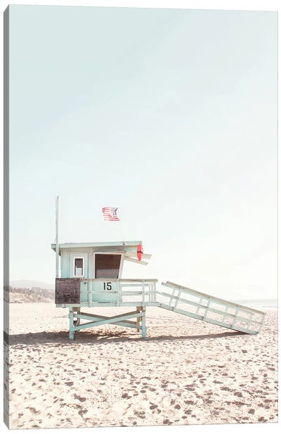 Lifeguard Hut Canvas Art Print