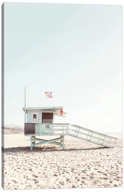 Lifeguard Hut Canvas Art Print