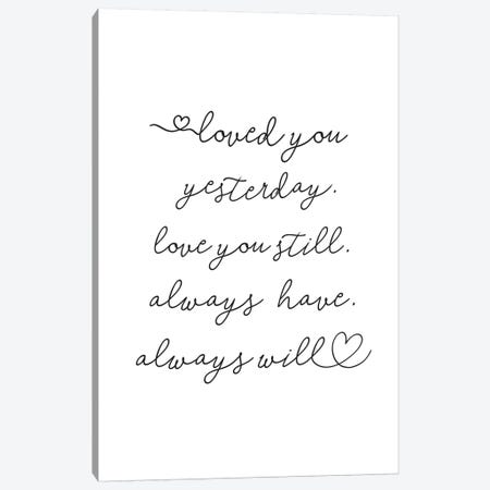 Love You Canvas Print #SSE114} by Sisi & Seb Canvas Print