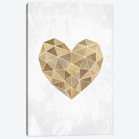 Mosaic Heart Canvas Print #SSE126} by Sisi & Seb Canvas Artwork
