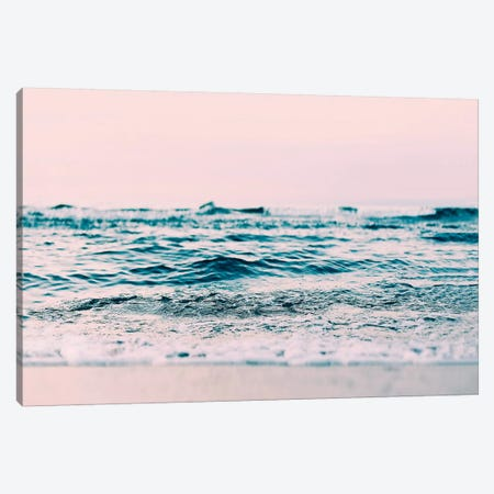 Ocean Wave Blush Canvas Print #SSE130} by Sisi & Seb Canvas Art