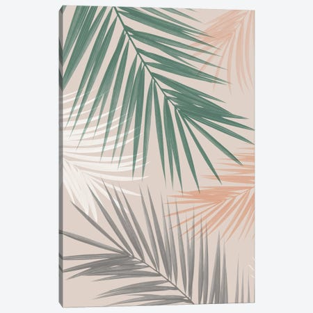 Palm Leaves Play Canvas Print #SSE137} by Sisi & Seb Canvas Print