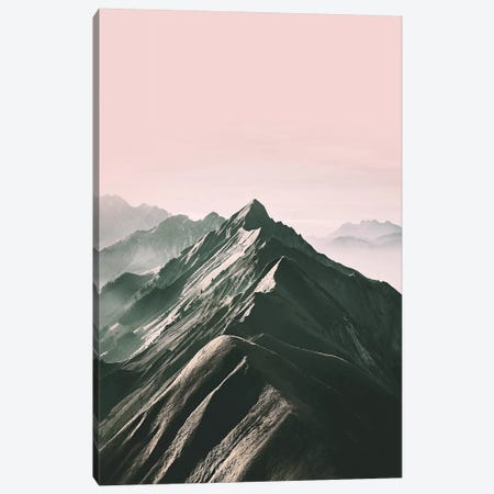 Pink Mountain Canvas Print #SSE164} by Sisi & Seb Canvas Artwork
