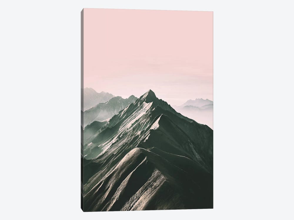 Pink Mountain by Sisi & Seb 1-piece Canvas Artwork
