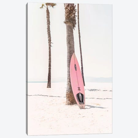 Pink Surf Board Canvas Print #SSE173} by Sisi & Seb Canvas Art