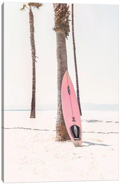 Pink Surf Board Canvas Art Print