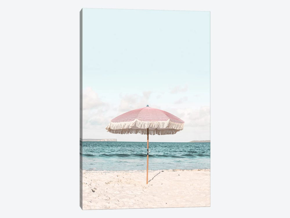 Pink Umbrella by Sisi & Seb 1-piece Canvas Print