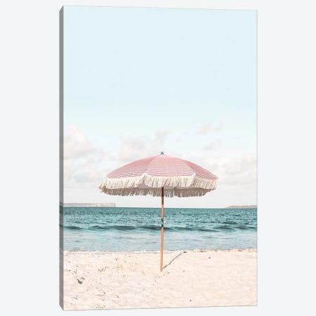 Pink Umbrella Canvas Print #SSE174} by Sisi & Seb Canvas Print