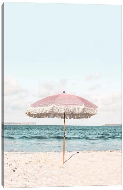 Pink Umbrella Canvas Art Print