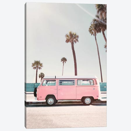 Pink Van Canvas Print #SSE175} by Sisi & Seb Canvas Art Print