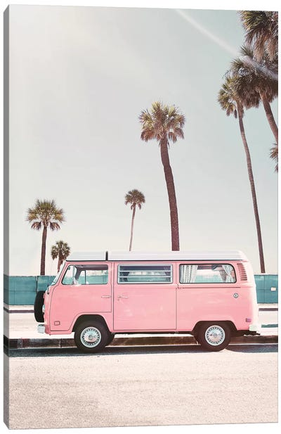 Pink Van Canvas Art Print