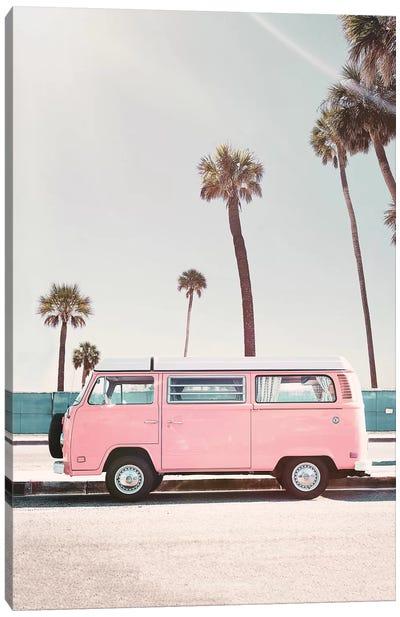 Pink Van Canvas Art Print