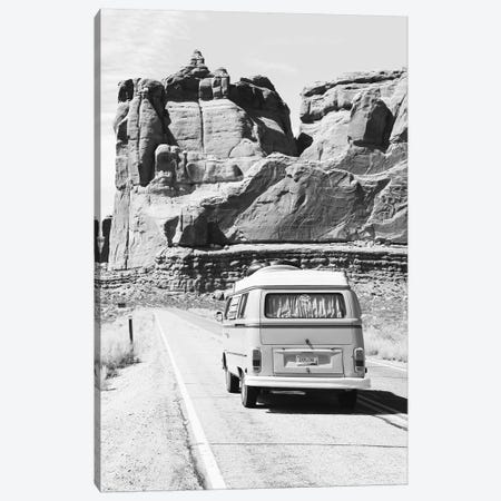 Road Trip In Black & White Canvas Print #SSE182} by Sisi & Seb Canvas Art Print