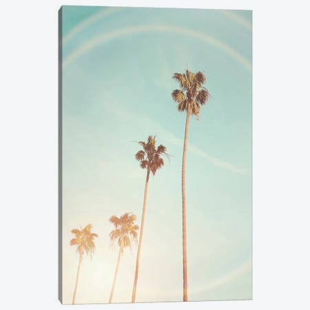 Sunny Palm Trees Canvas Print #SSE195} by Sisi & Seb Canvas Print