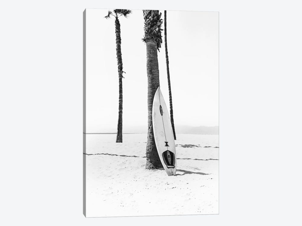 Surf Board In Black & White by Sisi & Seb 1-piece Canvas Art