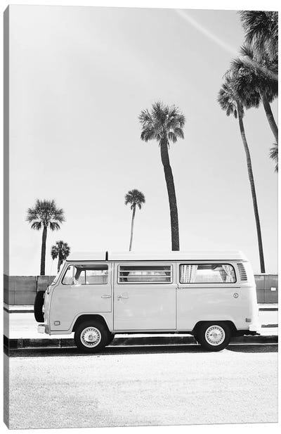 Van In Black & White Canvas Art Print