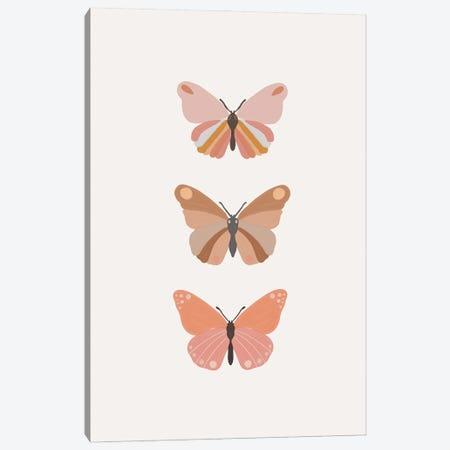 Butterflies Illustration Canvas Print #SSE227} by Sisi & Seb Canvas Art Print