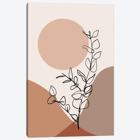 Graphic Botanical II Canvas Print #SSE231} by Sisi & Seb Art Print