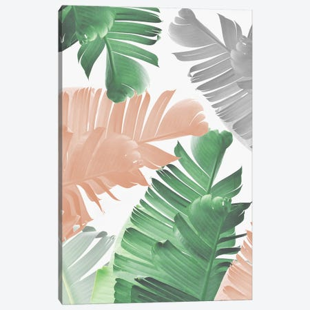 Banana Leaf Play Canvas Print #SSE25} by Sisi & Seb Canvas Artwork
