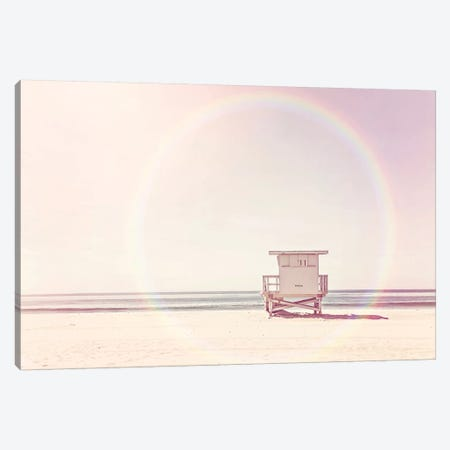 Beach Hut Canvas Print #SSE28} by Sisi & Seb Canvas Art Print