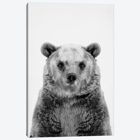 Bear In Black & White Canvas Print #SSE30} by Sisi & Seb Canvas Art
