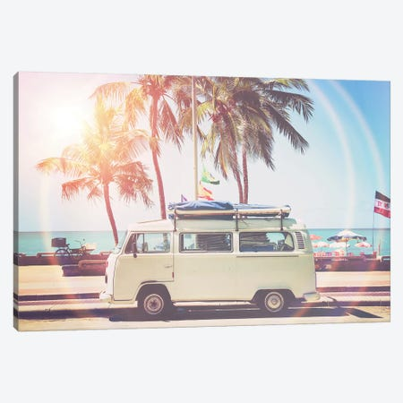 Camper Van Canvas Print #SSE58} by Sisi & Seb Canvas Wall Art
