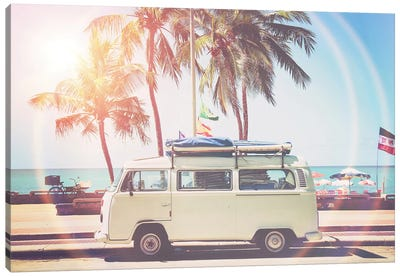 Camper Van Canvas Art Print