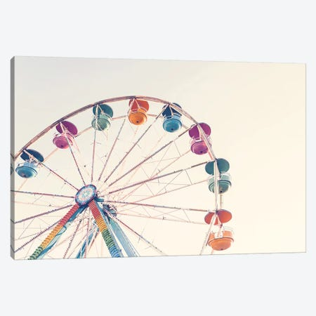 Ferris Wheel Canvas Print #SSE70} by Sisi & Seb Canvas Wall Art