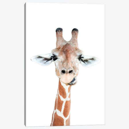 Happy Giraffe Canvas Print #SSE83} by Sisi & Seb Canvas Art Print