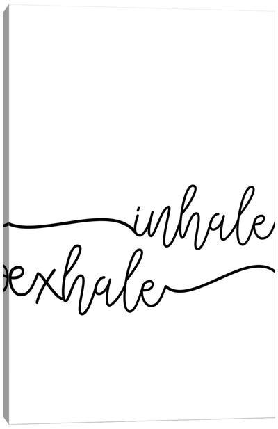 Inhale x Exhale Canvas Art Print