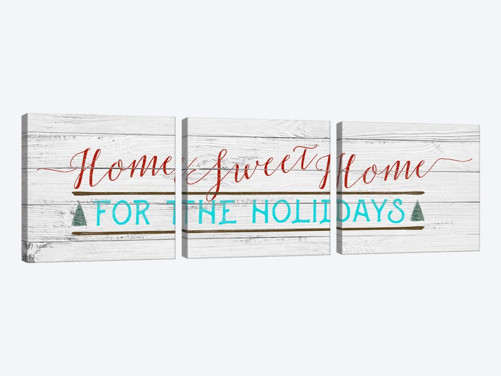 Home Sweet Home by 5by5collective 3-piece Art Print