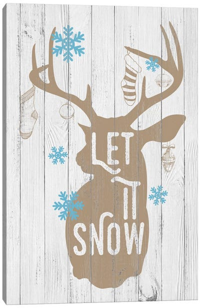 Let it Snow Canvas Art Print