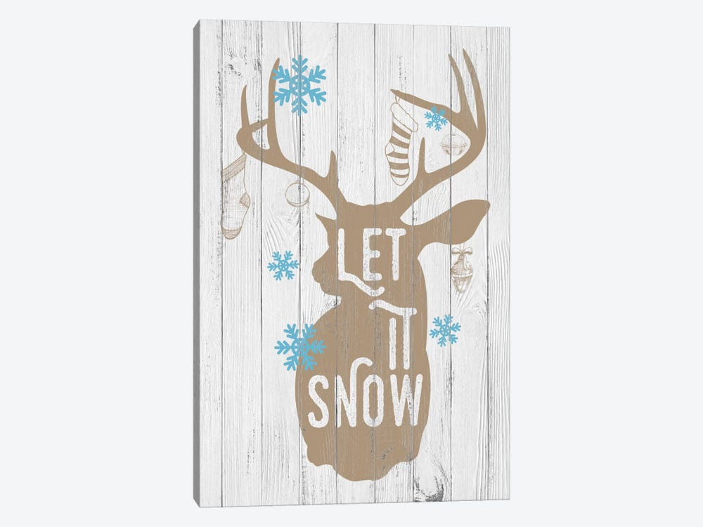 Let it Snow by 5by5collective 1-piece Canvas Wall Art