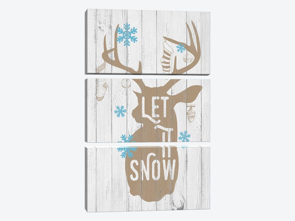 Let it Snow by 5by5collective 3-piece Canvas Artwork