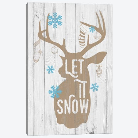 Let it Snow 3-Piece Canvas #SSG3} by 5by5collective Canvas Art
