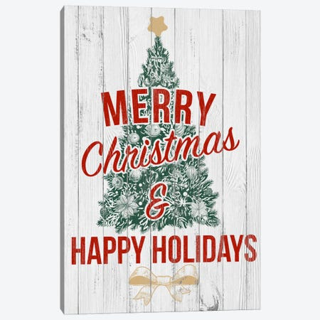 Merry Christmas & Happy Holidays Canvas Print #SSG4} by 5by5collective Canvas Print