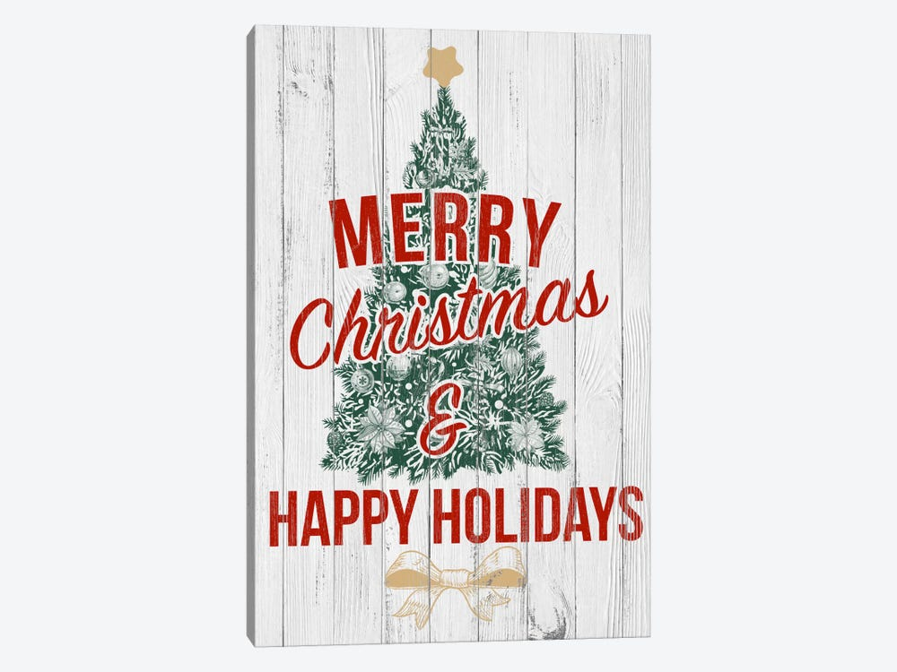 Merry Christmas & Happy Holidays by 5by5collective 1-piece Art Print