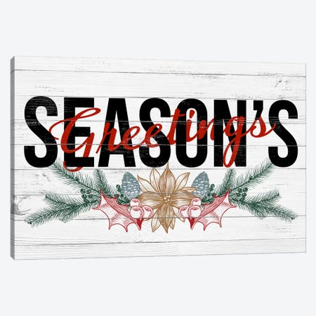 Season's Greetings Canvas Print #SSG5} by 5by5collective Art Print