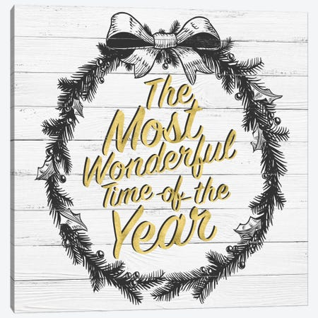 Wonderful Time Of The Year Canvas Print #SSG6} by 5by5collective Art Print