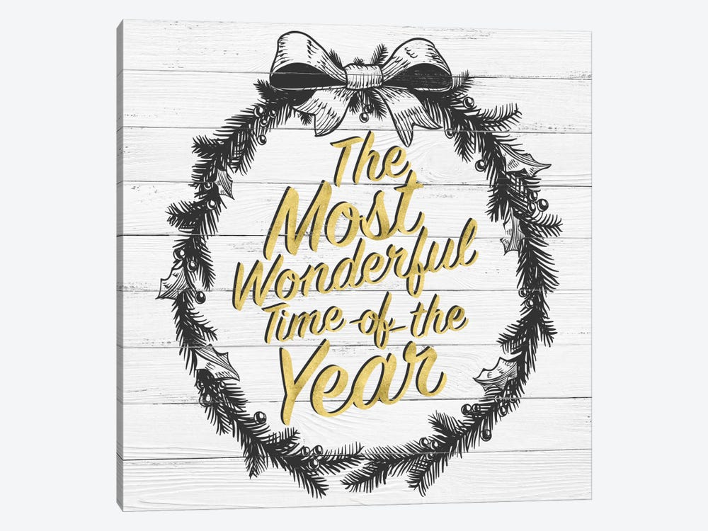 Wonderful Time Of The Year by 5by5collective 1-piece Canvas Art Print