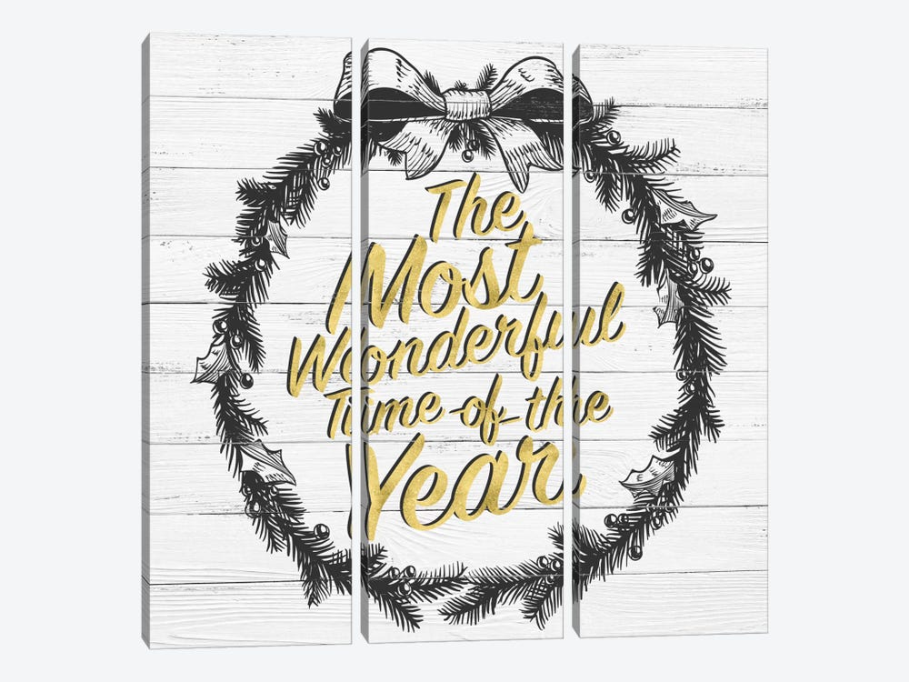 Wonderful Time Of The Year by 5by5collective 3-piece Art Print