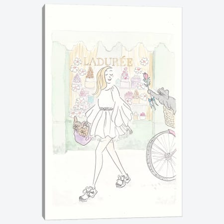 Woo You at Laduree Fashion and Black Cat Canvas Print #SSH108} by Shell Sherree Canvas Art