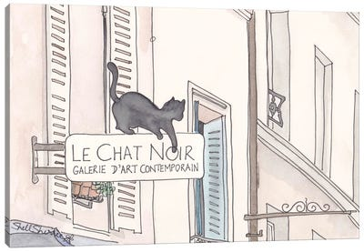 Paris Le Chat Noir Black Cat Canvas Art Print