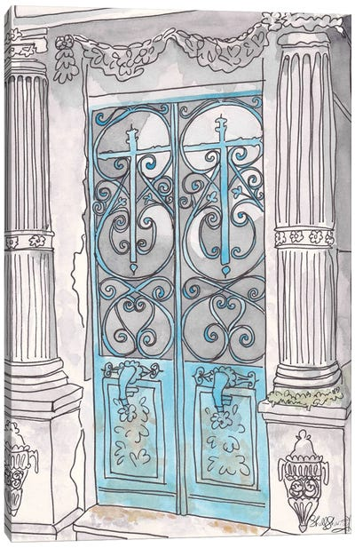 Turquoise Gates Pere Lachaise Paris Canvas Art Print