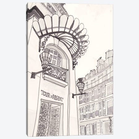 Paris Black And White Architecture Canvas Print #SSH131} by Shell Sherree Canvas Print
