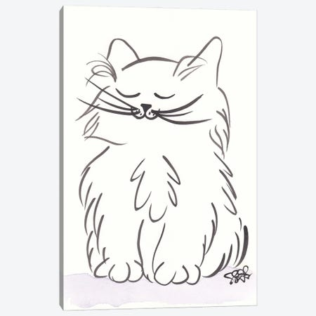 Contented Kiki Cat Canvas Print #SSH160} by Shell Sherree Canvas Artwork